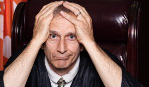 frustrated judge